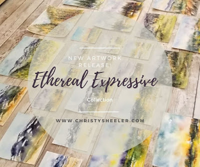 New Artwork Release Ethereal Expressive Collection © 2020 Christy Sheeler Artist