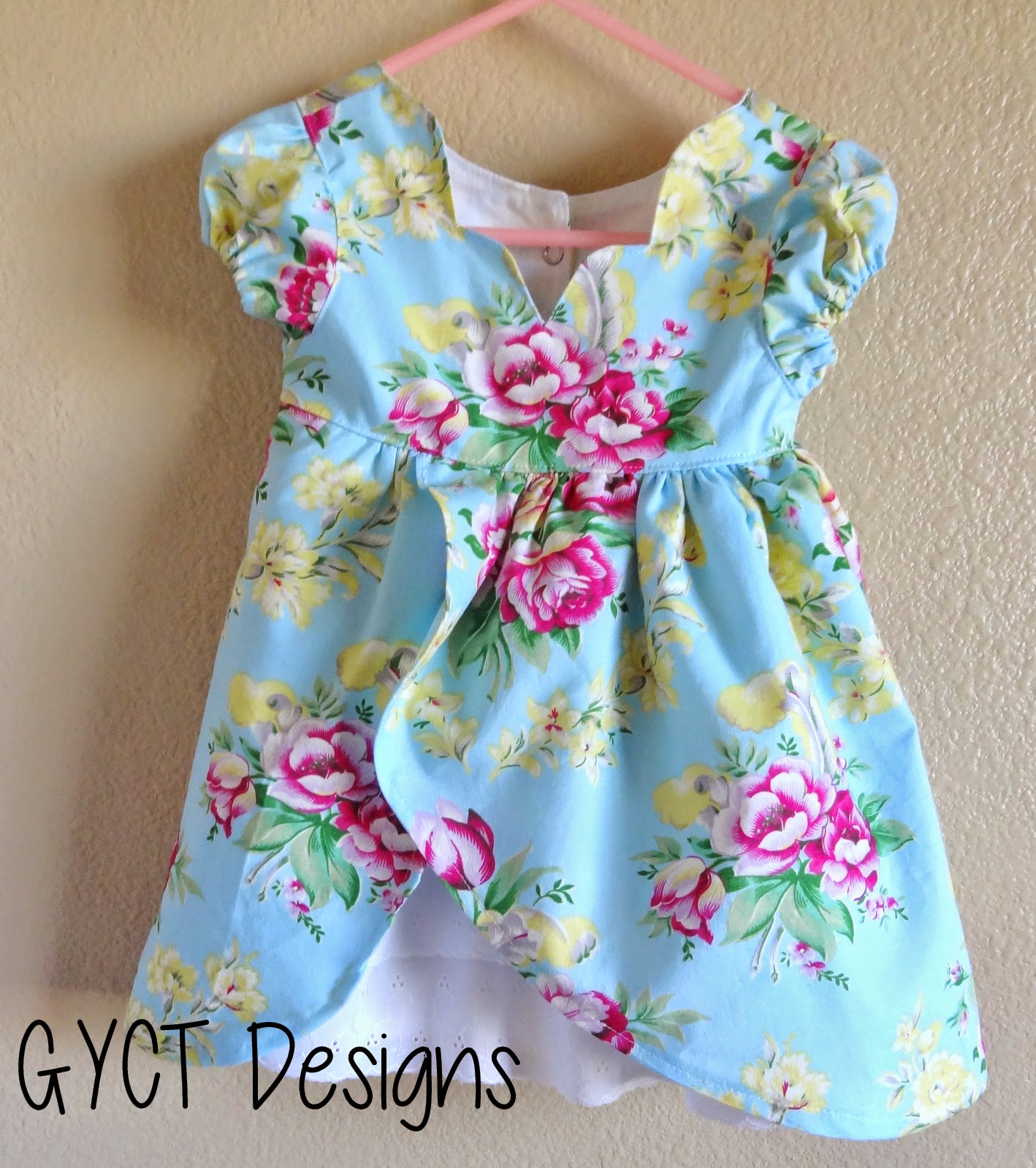 Girl dress with Ruffle Petticoat in floral fabrics