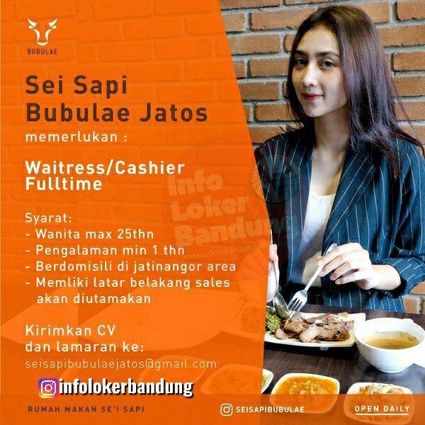 Lowongan Kerja Waitress & Cashier Sei Sapi Babulae Jatos April 2019