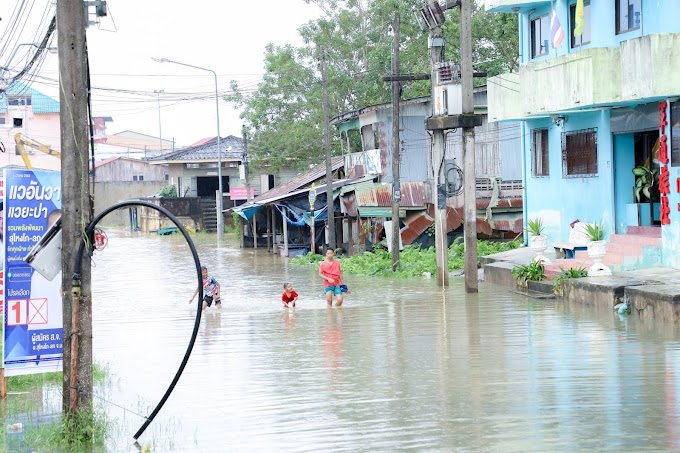 คลิป | นราธิวาสน้ำท่วมในพื้นที่ 4 อำเภอ 12 ตำบล 41 หมู่บ้าน