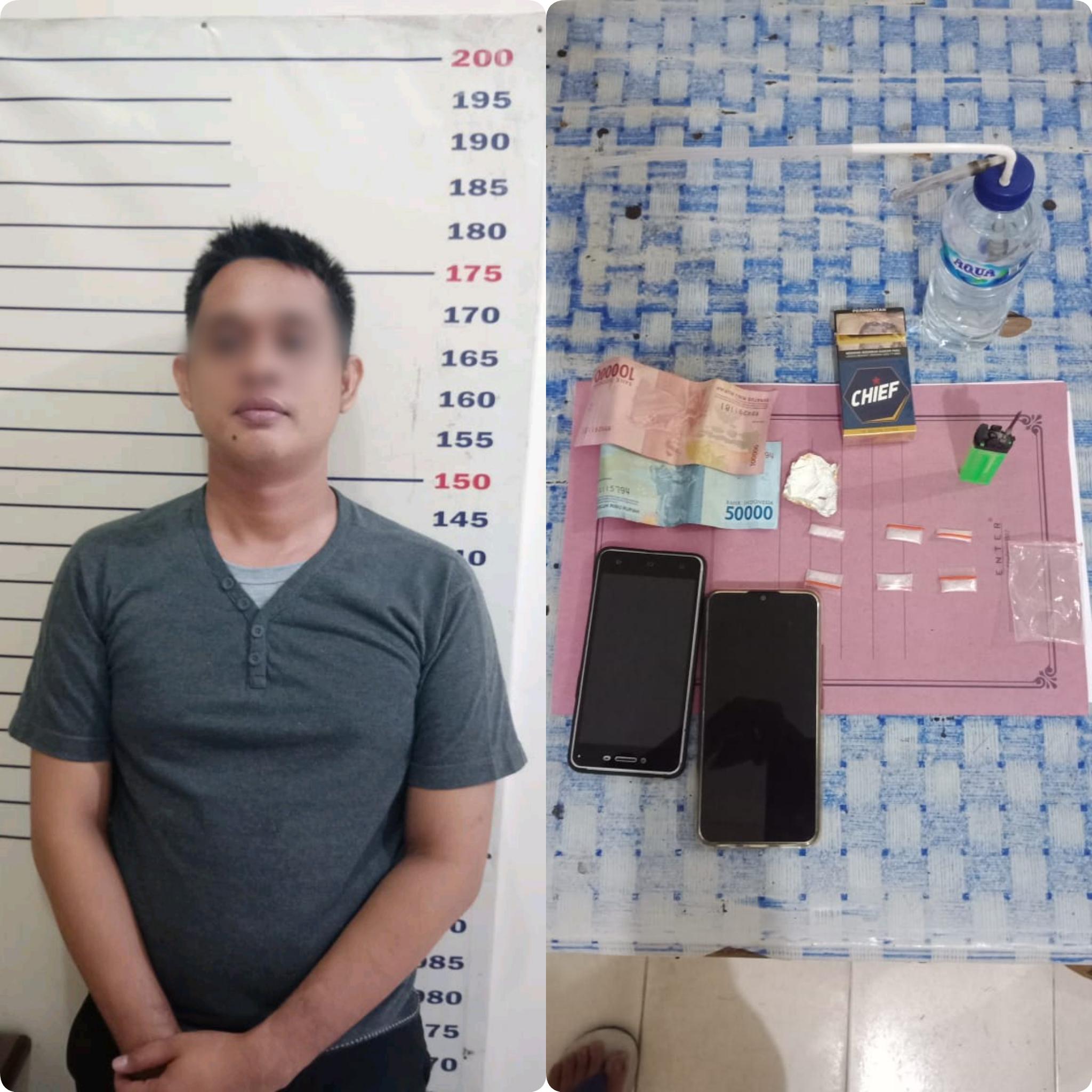Edarkan Narkoba, Oknum Satpol PP Lamsel Ditangkap Polisi