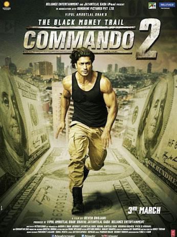 Commando 2 2017 Hindi pDVDRip 700MB Audio Cleaned