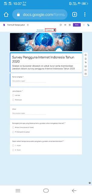 Cara Melihat Hasil Responden Google Form di HP