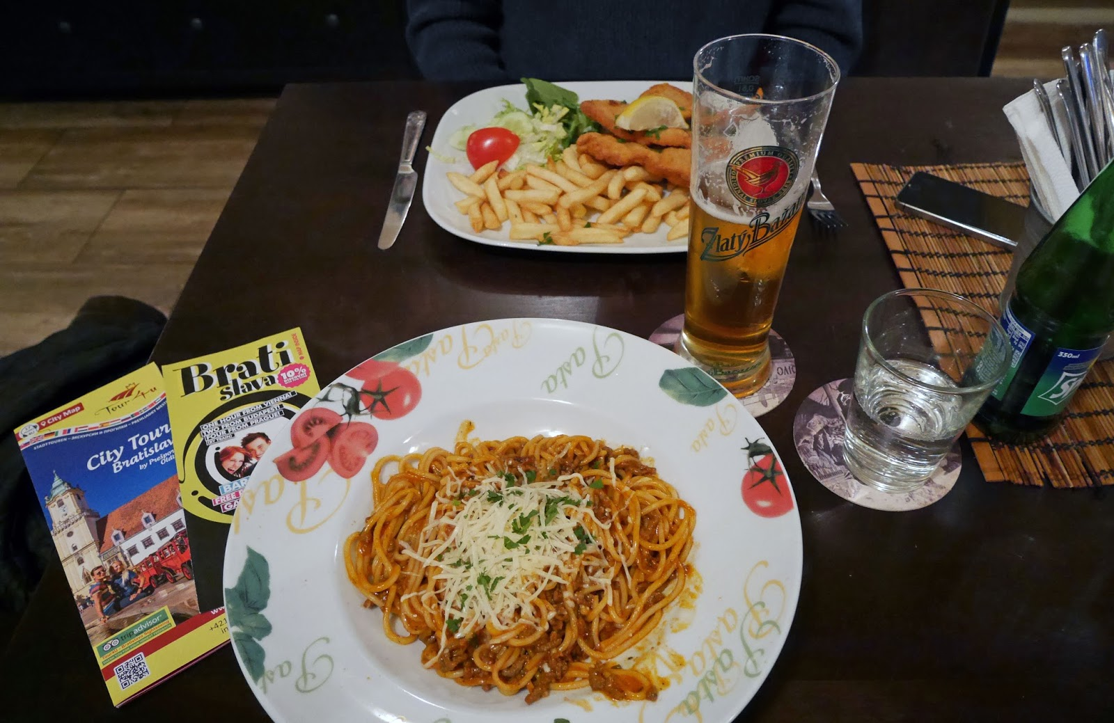 Spaghetti Bolognese in Bratislava's Old Town