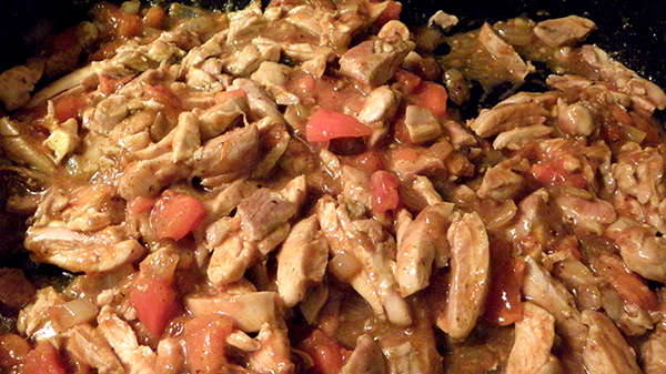 Persimmon and Chicken Simmering