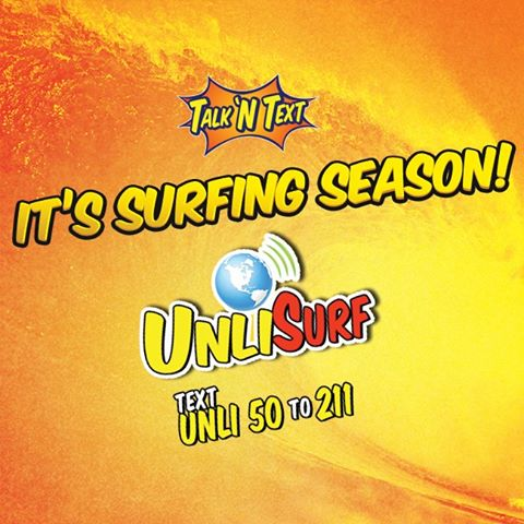 Register to Talk N Text UNLISURF promo and enjoy unlimited mobile internet surfing