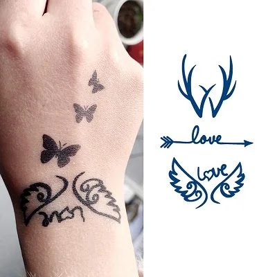 Mermaid Flower Wings Japanese Tattoos for Girls Teens