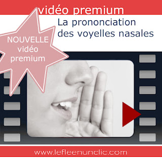 vidéo premium, prononciation, prononciation française, les voyelles nasales, FLE, le FLE en un 'clic'