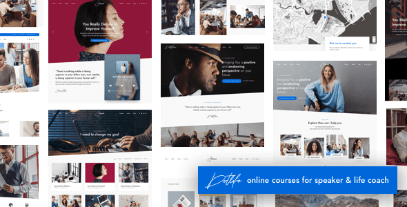 DotLife | Coach Speaker WordPress Free Download