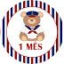 Tags Mesversário ursinho marinheiro + convite digital Free