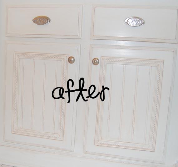 remodelaholic builder grade cabinet upgraded tutorial rh dev2 remodelaholic com how to dress up flat panel cabinet doors how to dress up kitchen cabinet doors