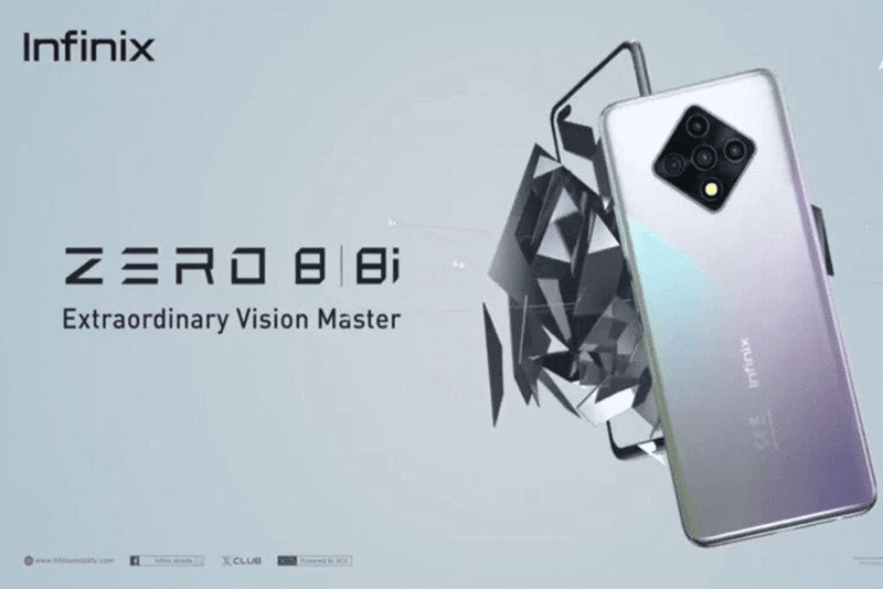 Infinix Zero 8 with 90Hz screen, Helio G90T, 64MP quad-cam, and 48MP dual-cam now official
