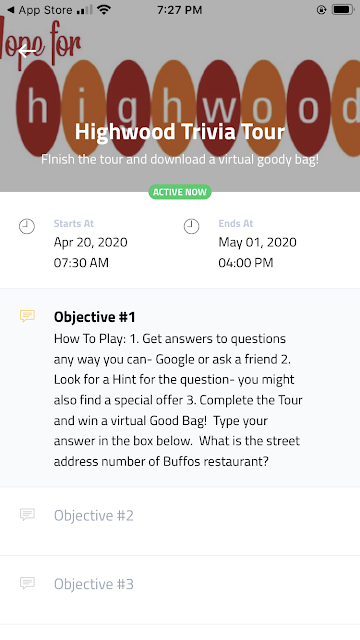 Highwood Virtual Trivia Tour App