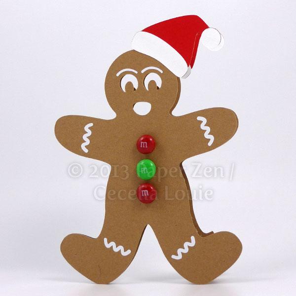 Paper Zen Gingerbread Man Christmas Card