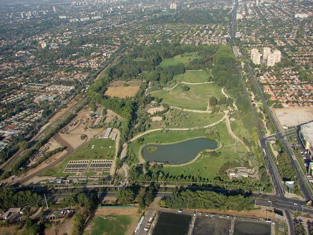 Parque Araucano em Santiago do Chile