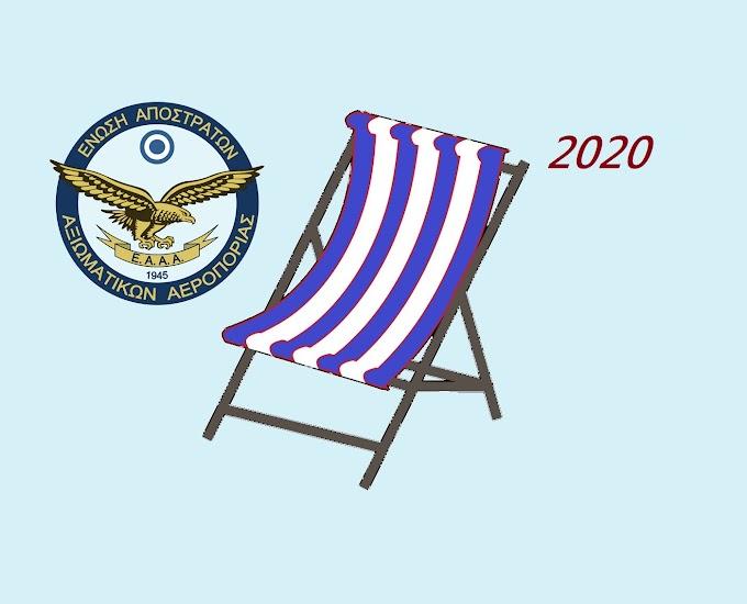 Τελικά  Αποτελέσματα  Παραθερισμού  Ε.Α.Α.Α. 2021