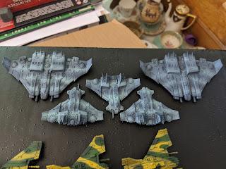 Tau fleet after airbrushing