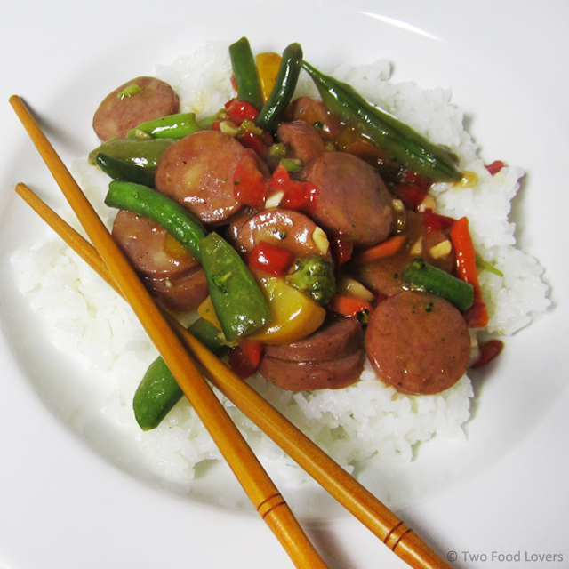 Pineapple Stir-Fry with Chicken Sausage