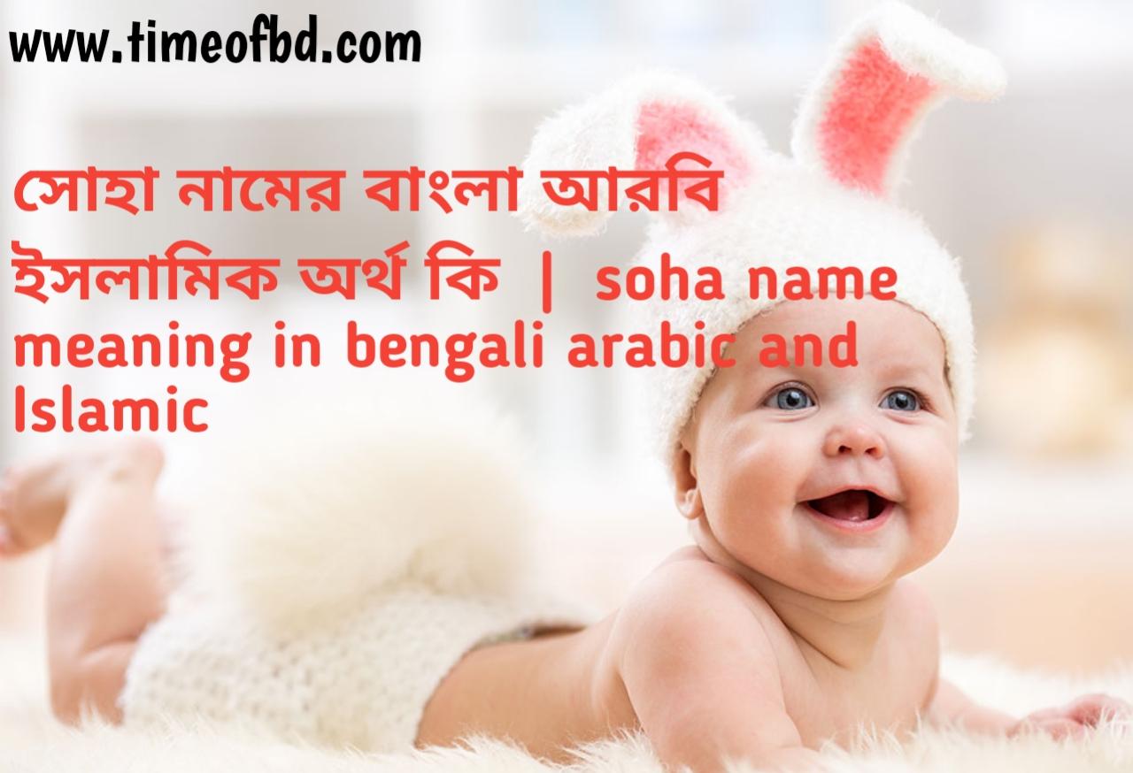 সোহা নামের অর্থ কী, সোহা নামের বাংলা অর্থ কি, সোহা নামের ইসলামিক অর্থ কি, soha name meaning in bengali