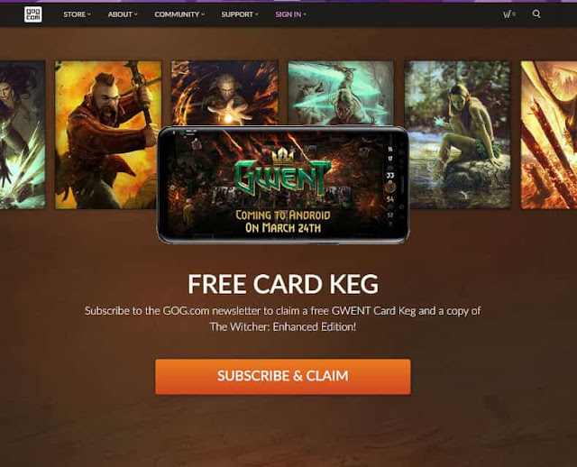 Berlangganan Email GOG Bonus Game The Witcher: Enhanced Edition PC Gratis