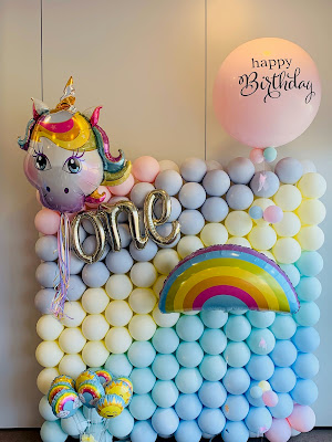 Its Birthday Balloon Wall and Decor by Sue Bowler