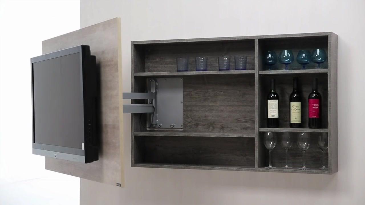 Diseo de muebles para Tv giratorio de melamina  Web del Bricolaje Diseo Diy