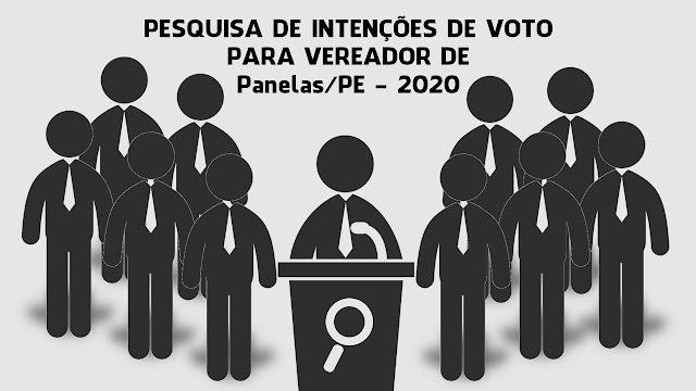 Pesquisa de intenção de voto disponivel na Internet para o cargo de vereador nas eleições municipais de 2020 em Panelas-PE