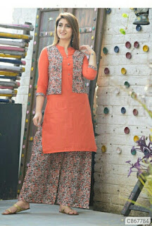 Pretty Cotton Solid With Button Kurti