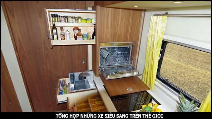 phòng bếp của nhà di động