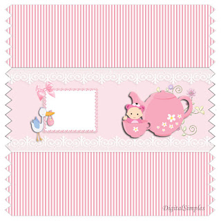 Baby Girl in Pink, Free Printable Candy Bar Labels.