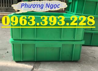 Khay nhựa đặc B9, thùng nhựa đặc B9, thùng nhựa chứa đồ linh kiện,sóng nhựa bít B9TD