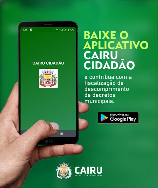 Prefeitura de Cairu lança aplicativo para denúncias sobre descumprimento de decretos municipais