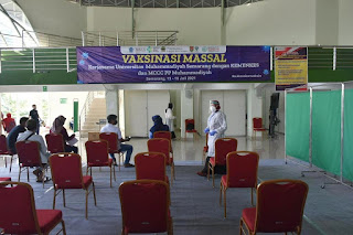 Vaksinasi Massal Lintas Agama Muhammadiyah dihadiri 3.500 Warga Semarang
