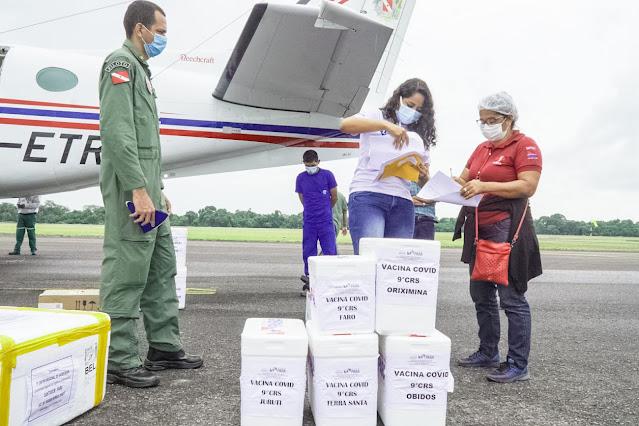 Óbidos Recebeu mais 460 doses de vacina para imunizar idosos e trabalhadores de saúde