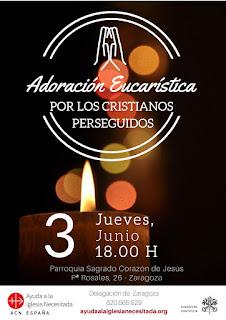 3-VI-21: Adoración Eucarística por los cristianos perseguidos