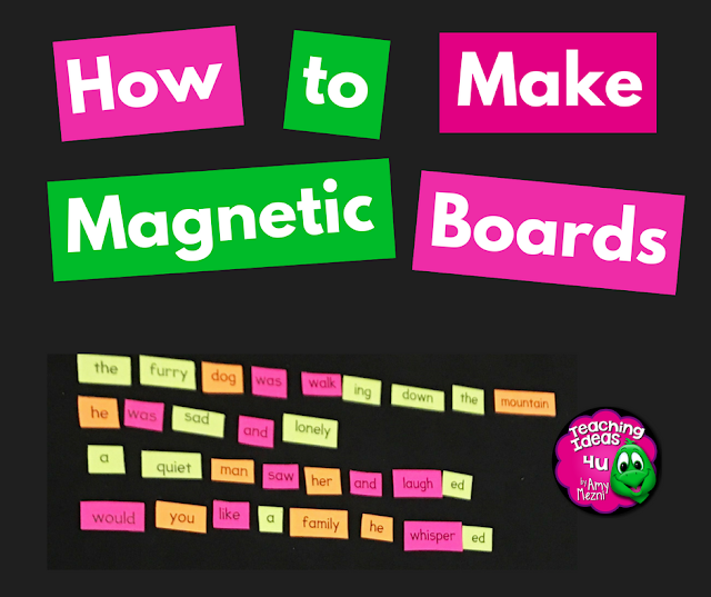 Would you like to use magnets in a center in your classroom? Make your own magnetic boards to fit your storage space! This magnetic primer project is easy to make and can be personalized with paint on top to add a pop of color to your classroom.