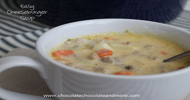 Easy Cheeseburger Soup Recipe