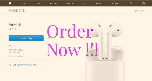 After the longer delay of the new Apple AirPods, Apple has finally announced AirPods are available to order online now from Apple.com and will start delivering to customers and arriving at Apple Stores