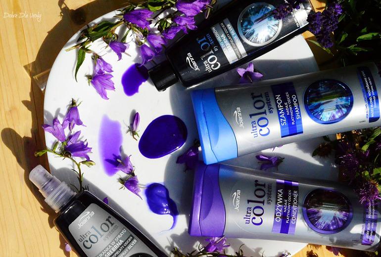 Pielęgnacja włosów blond Joanna Ultra Color System - szampon, odżywka, płukanka i spray