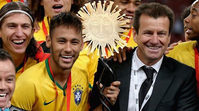 Dunga e Neymar. Foto: amprensa.com