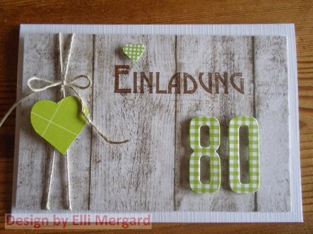 ellis eventkarten einladungskarte zum 80 geburtstag in gr n. Black Bedroom Furniture Sets. Home Design Ideas