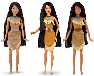 tres muñecas pocahontas