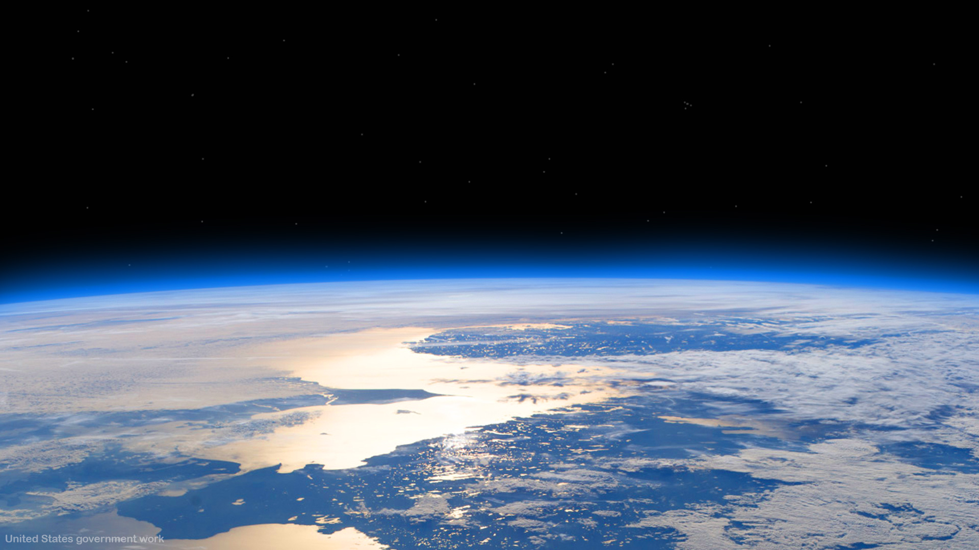 Planet earth from space height with empty space for text