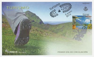 Lago del Valle en el sello de la serie turismo de 2016