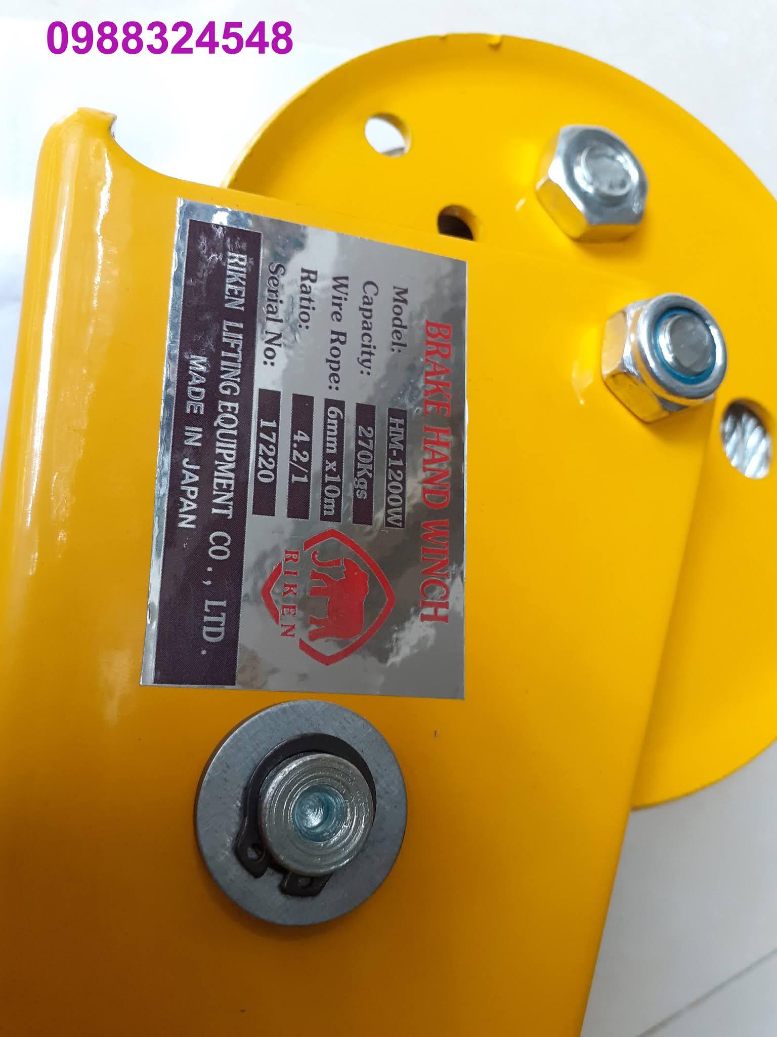 Tời quay tay Riken 1200lbs HM-1200W