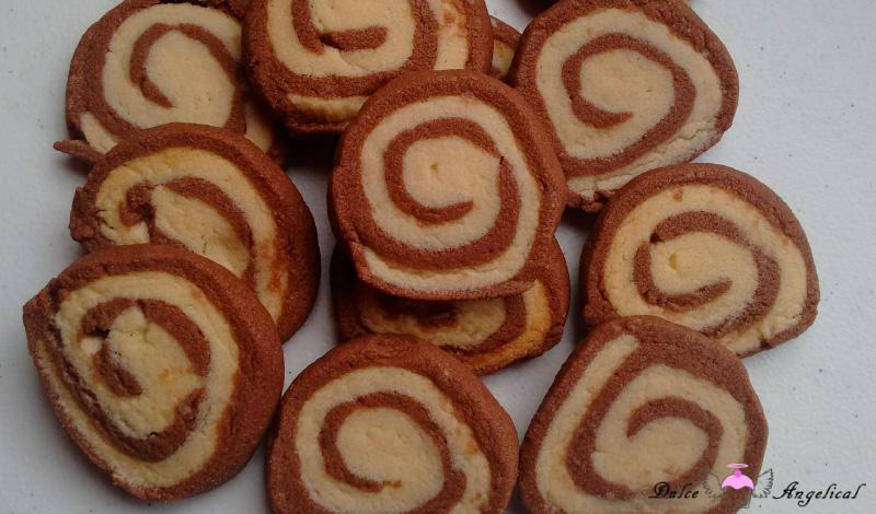 Receta de galletas espiral de vainilla y chocolate