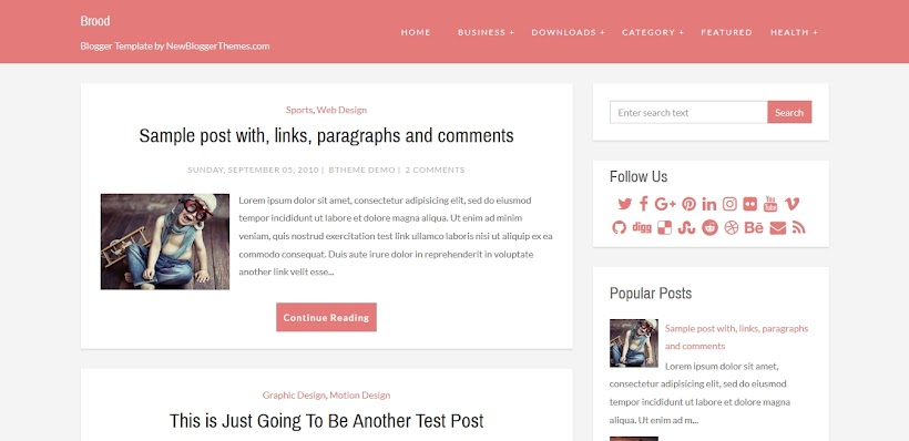 Brood Free Blogger Template