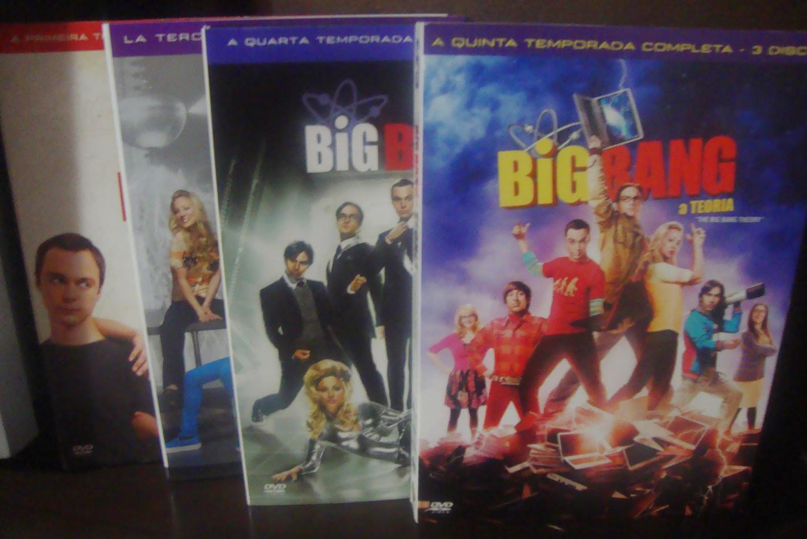 Capas dos DVDs da série The Big Bang Theory