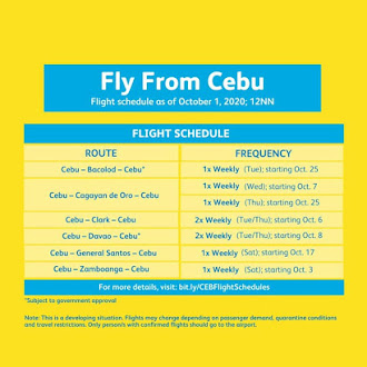 CEBU PACIFIC FLIGHT ADVISORY