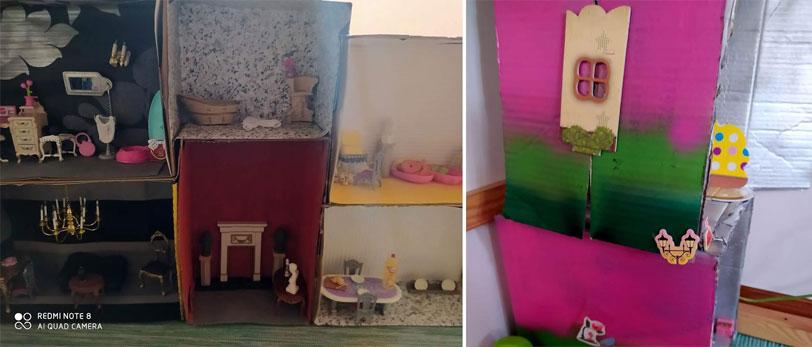casa de bonecas diy - fazer com crianças - tropa do batom